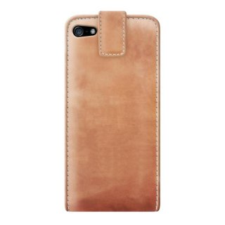 Gripis Ledertasche - Agenda - iPhone 5 - saddler natur