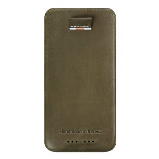 Gripis Ledertasche Slider - iPhone 5/s - Waxed Olive Brown