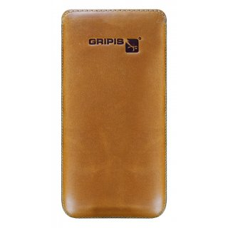 Gripis Ledertasche - Slider - Samsung Galaxy S4 - Waxed Whisky Brown