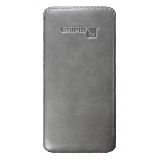 Gripis Ledertasche Slider - Samsung Galaxy S4 mini - Waxed Lava Grey