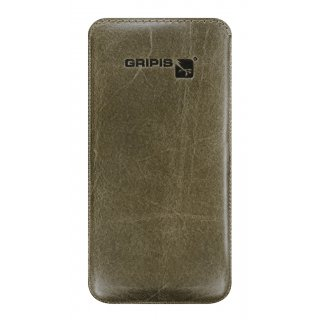 Gripis Ledertasche Slider - iPhone 5c - Waxed Olive Brown
