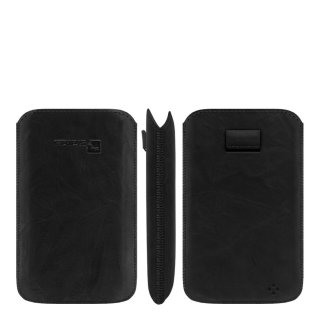 Gripis Slider - Genuine Leather - Samsung Galaxy Alpha - Creased black