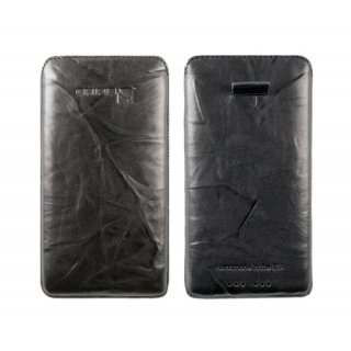 Gripis Ledertasche Slider - Samsung Galaxy S6 - Creased Black