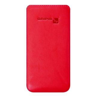 Gripis Ledertasche Slider - Huawei P8 - Rindsleder Ladies Shiny Red